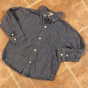 Janie and Jack jean button down shirt size girls 3